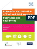 UNEP (2014) Prevention and reduction of food and drink waste in businesses and households