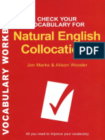 Check Your Vocabulary for Natural English Collocation