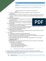 Corporation Exam Outline