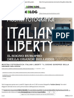 1.8.2016, 'Mostra fotografica Italian Liberty il Sogno Europeo della grande bellezza', Gcomunicazione.pdf