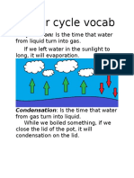 water cycle vocab hoa
