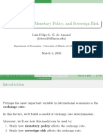 Exchange Rates, Monetary Policy, And Sovereign Risk