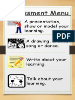 assessment menu
