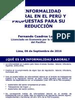 Presentación Sobre La Informalidad Laboral en Perú1