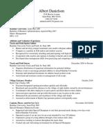 alberts resume 2