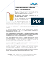 Informe Sobre Bebidas Energéticas