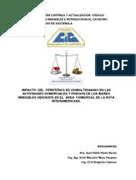 Impacto Del Periférico de Chimaltenango en Las Actividades Comerciales 2016