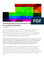 Transfobia de Jueces Peruanos Demora Fallos de Cambio de Nombre _ Sin Etiquetas