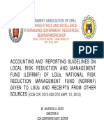 ACCOUNTING AND REPORTING GUIDELINES ON LRRMC
