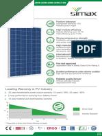 Ficha Tecnica Panel Solar Mary