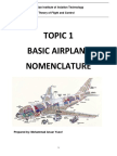 Reference Note - Topic 1 Basic Airplane Nomenclature (r1)