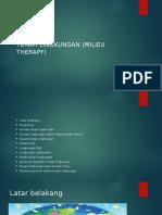 Terapi Lingkungan (Milieu Therapy)
