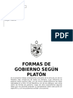 Formas de Gobierno Según Platón Derecho Constitucional