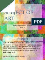 Subject of Art
