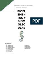 Bioelementos y Biomoleculas.