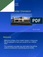 Provider Orientation Online