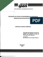 Obtenção de Fritas Vitrocerâmicas a Partir de Resíduos Sólidos Industriais