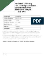 teacher work sample