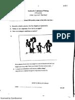 2016 MRSM SPM Trial - English Paper 1 & Marking Scheme