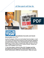 Land policy of the govt will be its undoing.docx