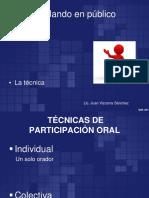 04 Tecnicas de Participacion Oral Jvs 2016 Discurso