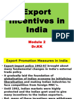 Export Incentives in India