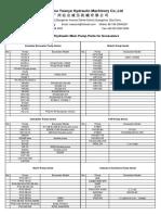 Newsunh Hydraulic Pump Parts List