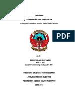 Fikram's Report Pekerjaan Penggantian Isolator Pada Tower Tension