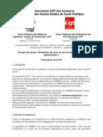 Proposition CGT actualisées