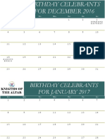 Acolyte's Birthday