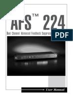 AFS224 Manual 18-6398-B Original