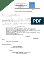 Sample Designation Ict Coordinator