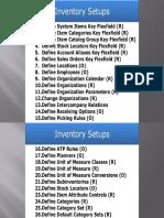 Inventory Setups