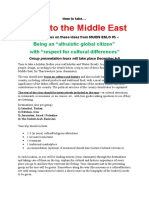 a trip to the middle east 2016