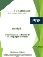 Unidad 1 Lenguajes y Automatas