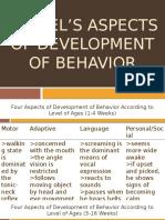 Gessel's Aspects of Development of Behavior Ppt