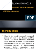 Understanding of Ijtihad (Personal Reasoning)