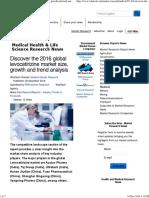Discover the 2016 Global Levocetirizine Market Size, Growth and Trend Analysis -Featured Taj Pharma