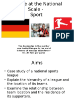 leisure at national scale - sport