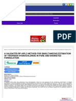 A Validated Rp-hplc Method for Simultaneous Estimation Www-pharmatutor-Org