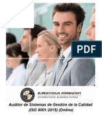 Auditor de Sistemas de Gestión de la Calidad (ISO 9001:2015) (Online)