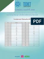 TEDET 2559 Grade9 Math