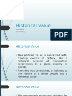 Historical Value