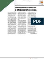 Eventi per diffondere le Geoscienze - Il Ticino del 9 dicembre 2016