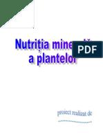 Nutritia Minerala a Plantelor