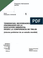 01 Tendencias de La Educacion Ambiental a Partir de La Conferencia de Tbilisi