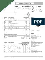 Data Sheet IXYS IXGH60N60C2
