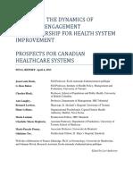 Exploring Dynamics Physician Engagement Denis E