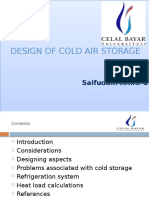 Design of Cold Storage