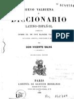 Nuevo Valbuena Diccionario Latino Espanol Vicente Salva